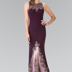 High Neckline Mermaid Long Prom Dress GL2204